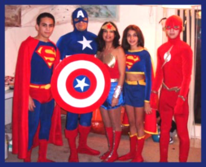Superheros Costume for families - Captain America, Wonder Woman, Superman