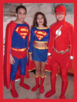 Superman, Supergirl and Flash Costumes