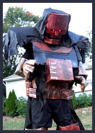 Homemade Rusty Robot Costume