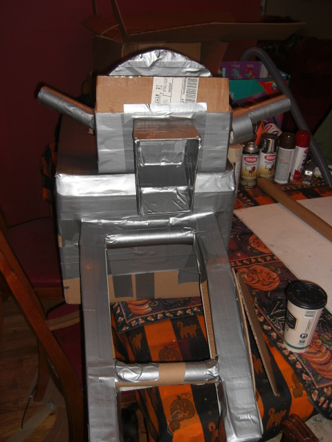 Making Batcycle of cardboard. Step #1