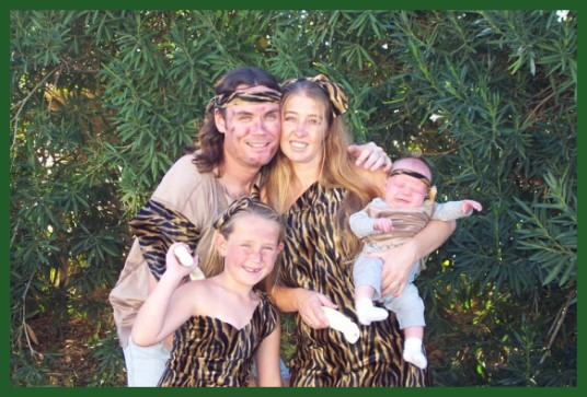 Caveman Family costumes