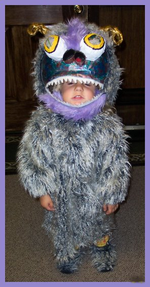 Homemade Monster Costume for kids