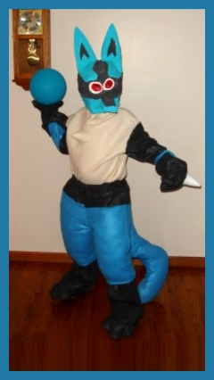 Homemade Pokemon Lucario Costume
