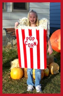 Box of Popcorn Homemade Costume for girls