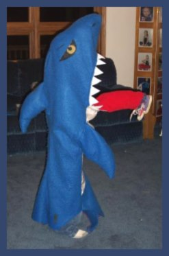 Creative homemade costume SHARK