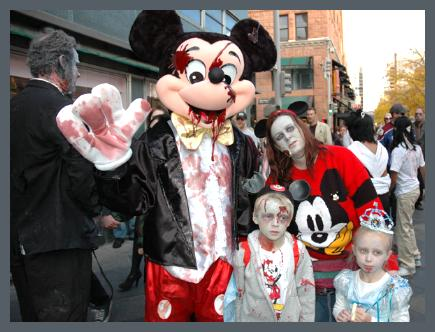 meet a lovely family who became infected as zombies while on holiday at disney world brack as mickey and mom beth up front and looking hungry