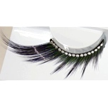 Zinkcolor Black Green Rhinestone False Eyelashes