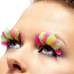 Neon Multi Colored Feather Eyelashes