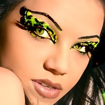 Exotic Cat Eyes Cheetah Print False Eyelashes