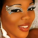 Ice Queen Exotic Eyes Rhinestone Eye MakeUp False Eyelashes