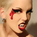 Bloodlust Glitter False Eyelashes Vampire Makeup Exotic Eyes