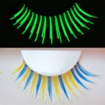 Blue and Gold Glow in the Dark False Lashes