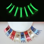 Red, White, Blue Glow in the Dark False Eyelashes