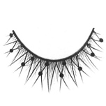 Long black lashes feature miniature black crystals