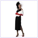 Adult 101 Dalmatians Disney Cruella De Vil Costume, Large (12-14)
