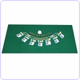 Poker Blackjack Layout, 36 x 72 Inch
