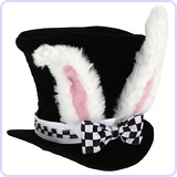 Child White Rabbit Costume Top Hat