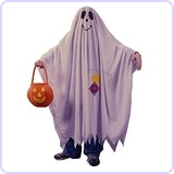 Friendly Ghost Child Costume, Medium