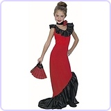 Kid's Spanish Dancer Dress Costume (Size: Medium 7-10)