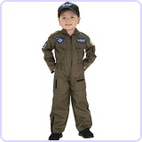 Kid Air Force Fighter Pilot Top Gun Costume, Medium (5-7 years)