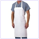 28-Inch by 35-Inch Cotton Kitchen Apron, White