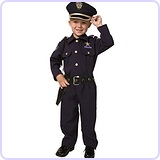 Toddler Deluxe Police Officer Costume Set