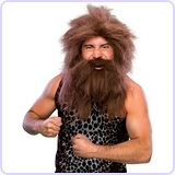 Caveman Beard and Set Wig