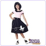 50's Hop with Poodle Skirt Child Costume, Large