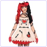 Women's 2 Piece Voodoo Cutie Doll Costume