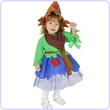 Girl's Infant Scarecrow Costume (Size: 6-12 Months)