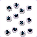 12 Hollow Plastic Eyeball Balls