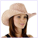 Glitter Sequin Trim Cowboy Hat for Ladies