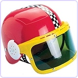 Race Car Racing Helmet & Visor