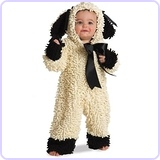 Woolly Lamb Deluxe Toddler Costume