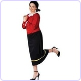 Olive Oyl Costume, Plus Size