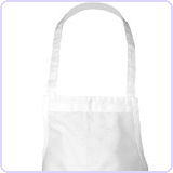 Chef Works White Apron, 33-Inch L by 27.5-Inch W