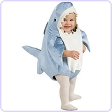 Unisex-Child Deluxe Shark Romper Costume, 12-24 Months