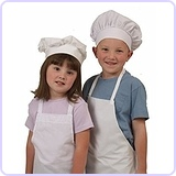 Kids White Chef Apron & Hat Set ML