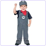 Baby's Train Engineer Toddler Costume, Small (24m-2T)