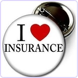 "I LOVE INSURANCE Pinback Button 2.25"" Pin"