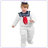 Toddler Stay Puft Marshmallow Man Costume Size 2-4T