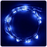 Micro LED 20 Super Bright Blue Color Lights on 7.5 Ft Long Ultra Thin String Wire
