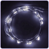 Micro LED 20 Super Bright Cold White Color Lights on 7.5 Ft Long Ultra Thin String Wire