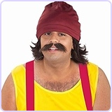 Men's Cheech Kit with Cap Wig and Moustache