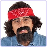 Men's Chong Costume Kit with Bandana Wig and Beard