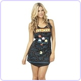 Pac Man Video Game Costume Tank Dress