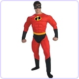 Adult Deluxe Muscle Mr Incredible Costume
