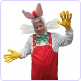 Cartoon Framed White Rabbit Costume