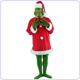 Dr. Seuss Grinch Costume Deluxe with Mask