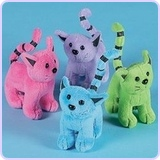 Assorted Plush Cats (1 dozen)